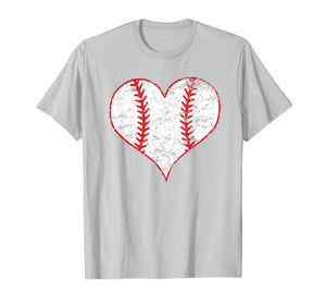 Vintage Baseball Heart Love Baseball Mom Lover T-shirt