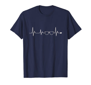 Eyeglasses Spectacles Heartbeat TShirt Optometrist Gifts