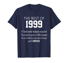 Afbeelding in Gallery-weergave laden, 1999 20th birthday T shirt gift for 20 year old boys / girls