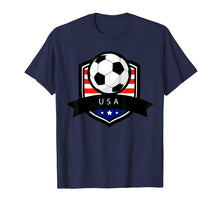 Afbeelding in Gallery-weergave laden, USA Soccer Ball T-Shirt | American Flag Football Tee