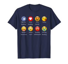 Afbeelding in Gallery-weergave laden, I Like Love Bowling Funny Emoji Emoticons Graphic Tee Shirt