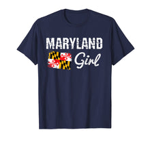 Afbeelding in Gallery-weergave laden, Maryland Flag Shirts Maryland Girl T-Shirt