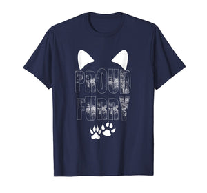 Proud Furry Furries Tail and Ears Cosplay Cute Pet T-Shirt