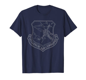 Strategic Air Command SAC Emblem Cold War Grunge T-Shirt