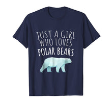 Afbeelding in Gallery-weergave laden, JUST A GIRL WHO LOVES POLAR BEARS - POLAR BEAR LOVER T-SHIRT