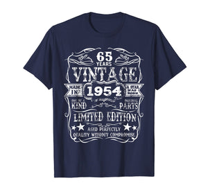 Made In 1954 65 Years Old Vintage 65th Birthday Gift T-Shirt