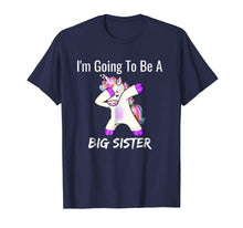 Afbeelding in Gallery-weergave laden, I'm Going to be a Big Sister Girls Cute Unicorn T-Shirt