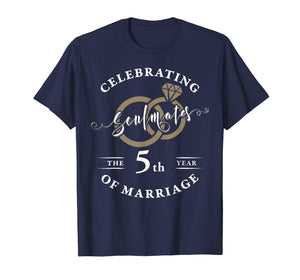 5th Wedding Anniversary T-Shirt 5 years of Marriage Gift
