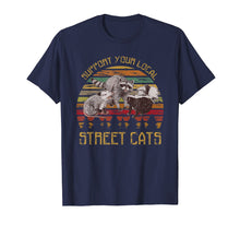 Afbeelding in Gallery-weergave laden, Support your local street cats vintage t shirt