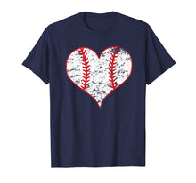 Afbeelding in Gallery-weergave laden, Vintage Baseball Heart Love Baseball Mom Lover T-shirt