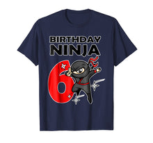 Afbeelding in Gallery-weergave laden, Ninja Birthday T-Shirt 6 Year Old Birthday Boys, Girls