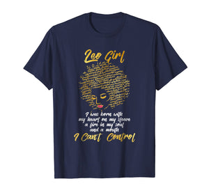 I'm a Leo Girl Shirt Funny Birthday T-Shirt for Women