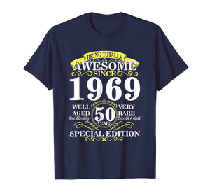 Vintage Born in 1969 50th Birthday 50 Years Old Awesome