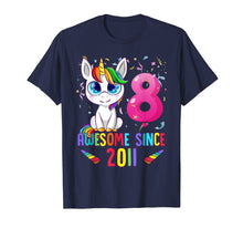 Afbeelding in Gallery-weergave laden, 8 Years Old 8th Birthday Unicorn Shirt Girl gift Gift