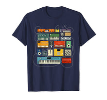 Afbeelding in Gallery-weergave laden, Synthesizer and Drum Machine T shirt for Electronic Musician