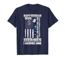 Afbeelding in Gallery-weergave laden, Navy Veteran Wife T Shirt | Pride Military Wife- I Married