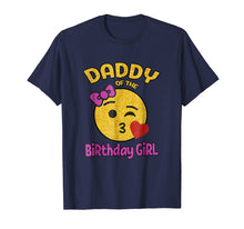 Afbeelding in Gallery-weergave laden, Daddy of the Birthday Girl Emoji Pink Shirt Kiss Heart Tee