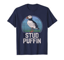 Afbeelding in Gallery-weergave laden, Stud Puffin Funny Seabird Animal Lover Stud Muffin T Shirt