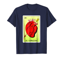 Afbeelding in Gallery-weergave laden, Mexican Loteria Tshirts - El Corazon T Shirt Grunge Version