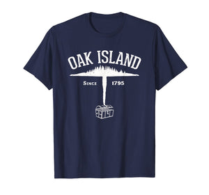 Oak Island Island and Treasure Gift T-Shirt - White-204747