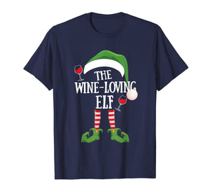 The Wine Loving Elf Group Matching Family Christmas Gift T-Shirt