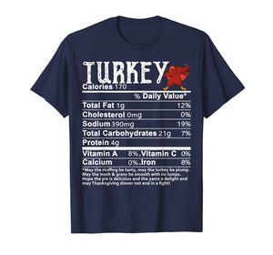 Turkey Dabbing Nutritional Facts Funny Thanksgiving Gift T-Shirt