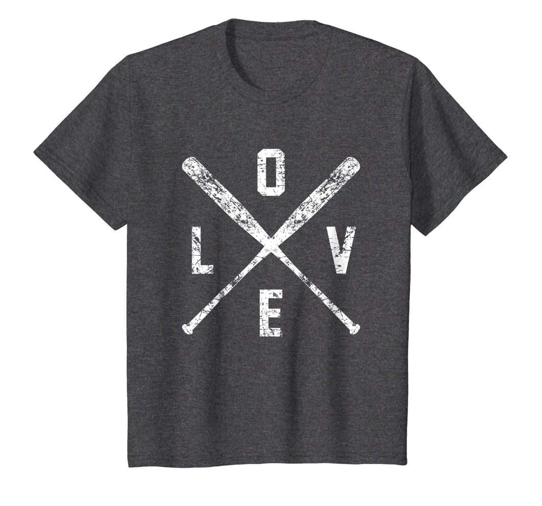 Love Baseball Bats Shirt, Baseball Mom Softball Dad Gift
