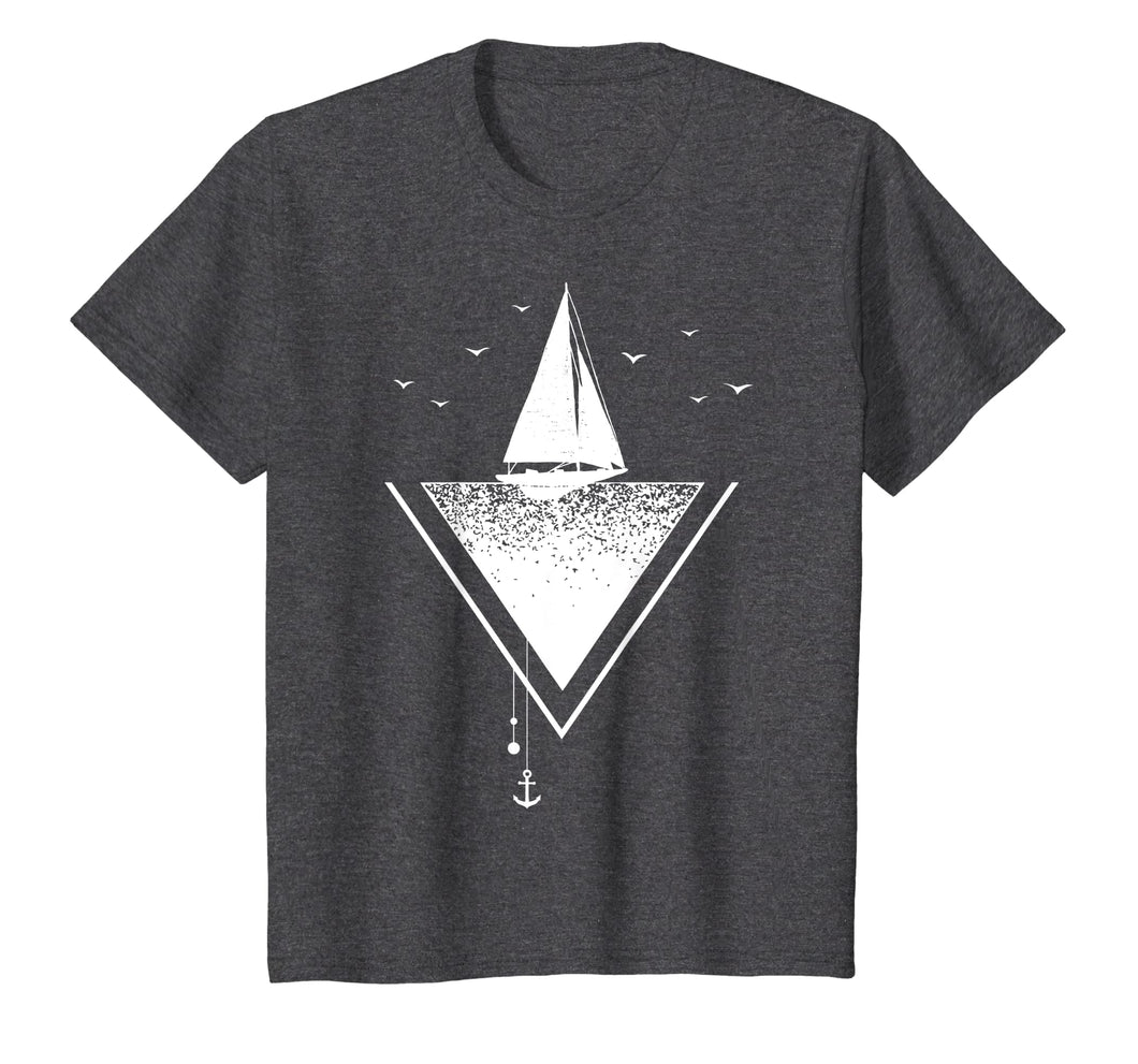 Nautical Yacht Sailing Ocean Anchor Graphic T Shirt