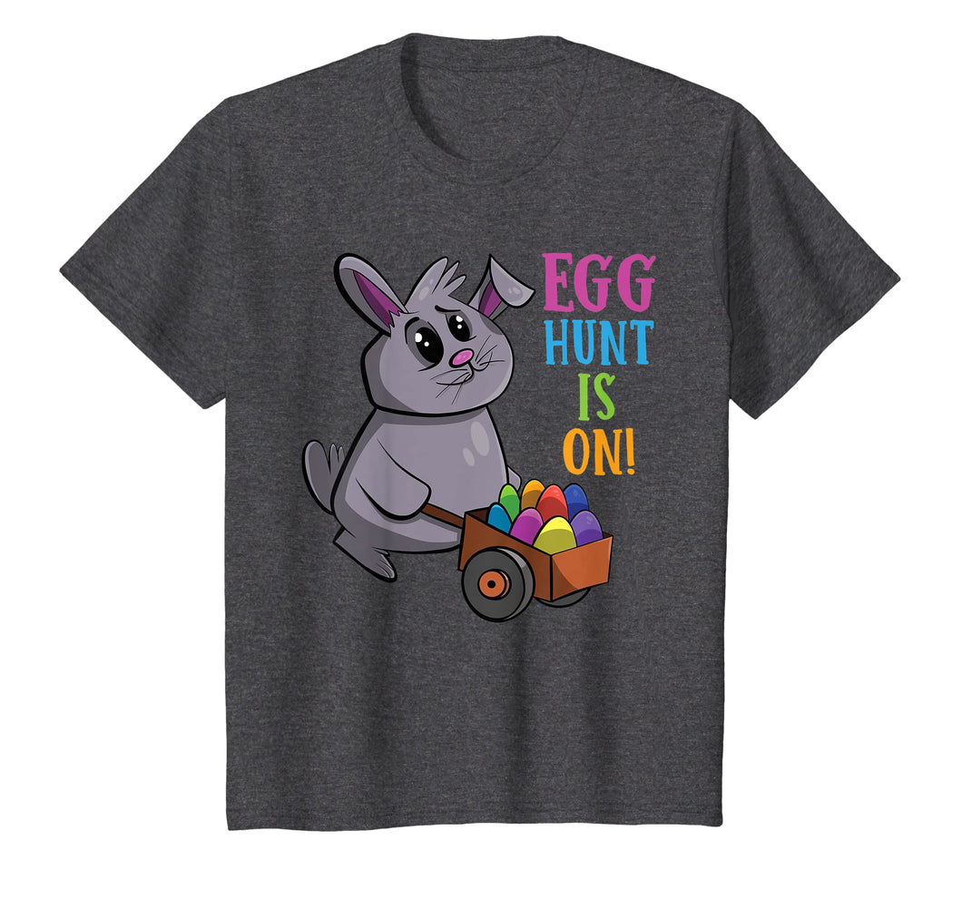 Kids Easter Gift Shirts | Egg Hunt Is On Egg Hunting Tshirts