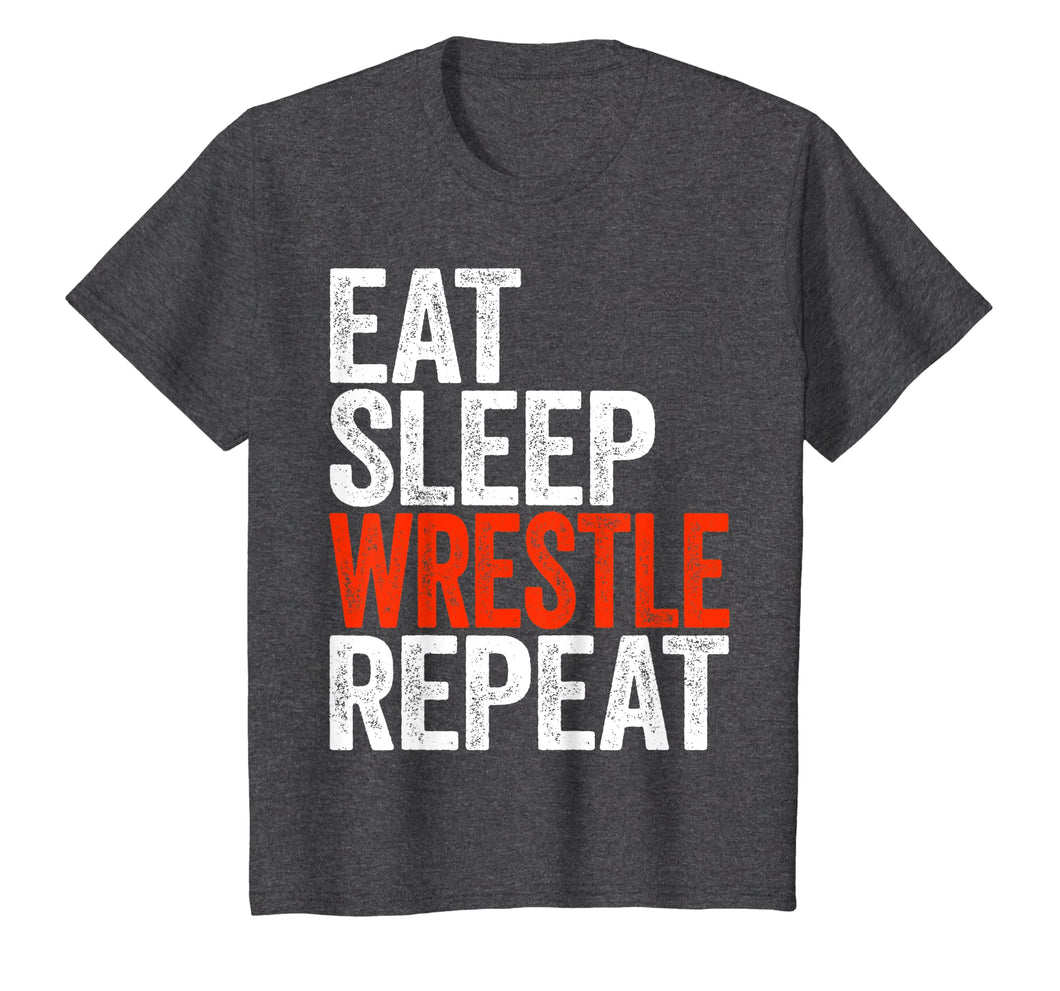 Eat Sleep Wrestle Repeat T-Shirt Wrestling Gift Shirt