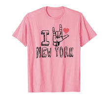 Afbeelding in Gallery-weergave laden, I Love New York T-shirt,NY ASL Tshirt for New York lovers
