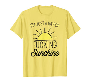 Just A Ray Of Fucking Sunshine Funny Shirt Sarcastic Gift