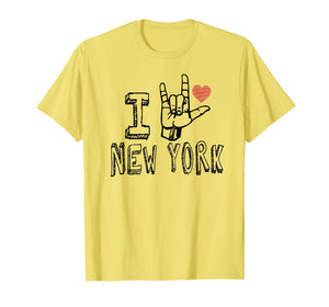 I Love New York T-shirt,NY ASL Tshirt for New York lovers