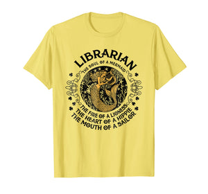 Librarian The Soul Of A Mermaid - Great T-shirt