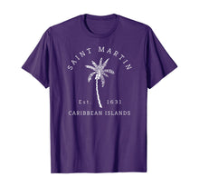 Afbeelding in Gallery-weergave laden, Original St. Martin Caribbean Islands Palm Tree Novelty Art T-Shirt