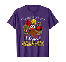 Afbeelding in Gallery-weergave laden, Thankful Grateful Blessed Grammie Leopard Turkey T-Shirt