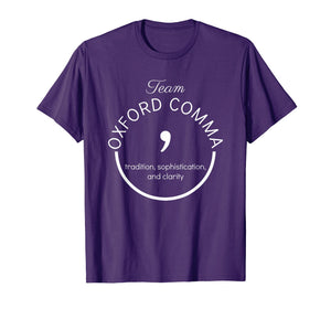 Team Oxford Comma Grammar Police Shirt Gift