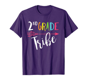 Team 2nd Second Grade Teacher Tribe Back To School T-Shirt