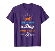 Afbeelding in Gallery-weergave laden, Life Is Good A Dog Makes It Better T-Shirt For Dog Lovers