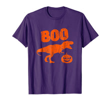 Afbeelding in Gallery-weergave laden, T Rex Dinosaur Pumpkin Unique Funny Halloween T Shirt