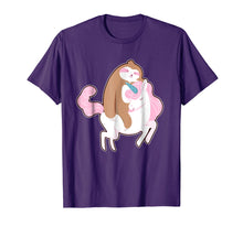 Afbeelding in Gallery-weergave laden, Sloth shirt Sloth riding Unicorn