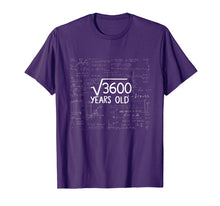 Afbeelding in Gallery-weergave laden, Square Root of 3600- 60th Birthday 60 Years Old Gift Tshirt