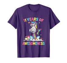 Afbeelding in Gallery-weergave laden, 11th Birthday Girl Unicorn Shirt Gifts Age 11 Niece Daughter