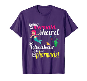 Pharmacist Mermaid PharmD T-shirt Funny Pharmacy Gift