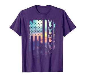 Deer Hunting And America Flag TShirt Hunting Lover Gift
