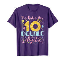 Afbeelding in Gallery-weergave laden, 10th Birthday Shirt - This Girl is Now Double Digits