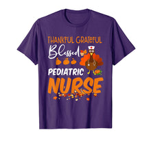 Afbeelding in Gallery-weergave laden, Thankful Grateful Blessed Pediatric Nurse Thanksgiving T-Shirt