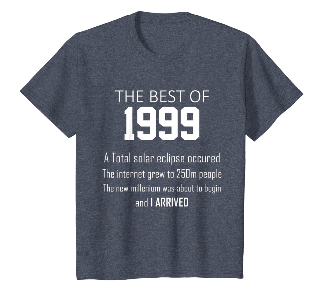 1999 20th birthday T shirt gift for 20 year old boys / girls