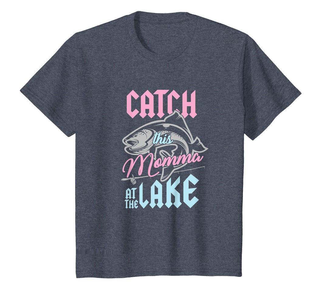 Catch This Momma At Lake Fishing Canoe Fisherwoman T-Shirt