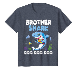 Lovely Fishes Swimming In The Sea Shirt Brother Autism Shark